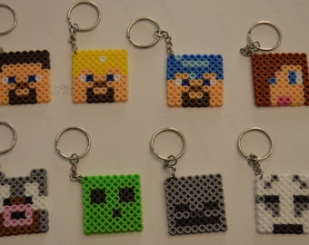 Minecraft party pack #2 - Set of 8 keychains