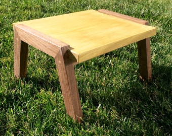 Exotic wood step stool