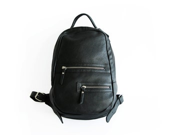Handmade genuine leather backpack