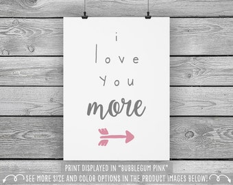 I Love You More - Wall Art for Kids - Available in more sizes, colors, and sets!