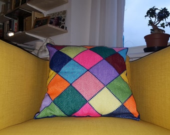 Hand embroidered pillow made with love.