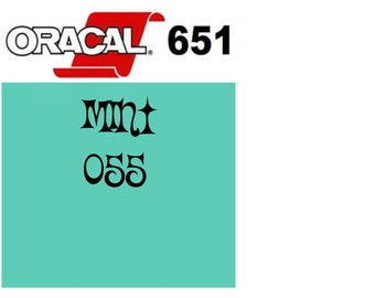 Oracal 651 Vinyl Mint (055) Adhesive Vinyl - Craft Vinyl - Outdoor Vinyl - Vinyl Sheets - Oracle 651