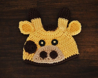 Zuri the Giraffe Crochet Hat