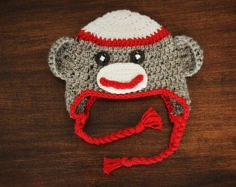 Sunny the Sock Monkey Crochet Hat
