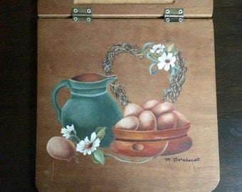 Milk and eggs painting