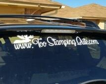 Custom Car Decal - Business Logo - Personalized Car Decal - Window Decal - Vinyl Decal - Car Sticker - Windshield Decal - Window Sticker