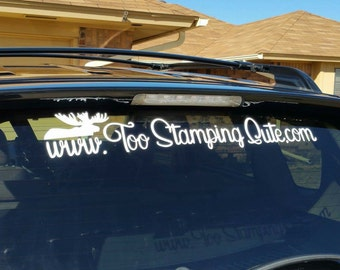 Custom Car Window Vinyl Decal Your Business Name And Logo - Custom car decals business