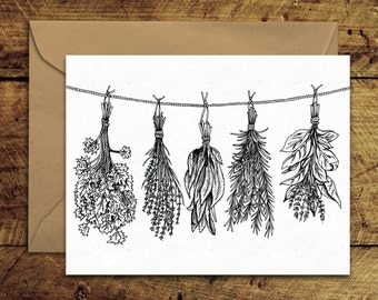 Herbs - Greeting Card with Envelope