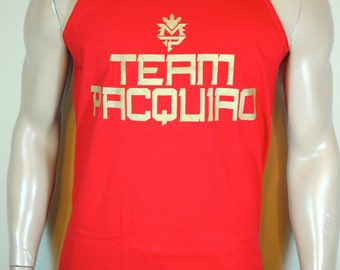 Manny Pacquiao Tank Top Mens Team Pacquiao Red Last Fight