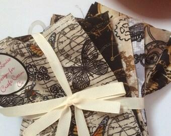 Fat quarter bundle - Steam Punk fat quarter fabric bundle - craft cotton company