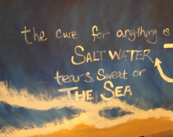 Sweat tears or sea