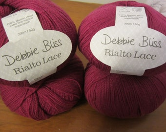 Rialto Lace by Debbie Bliss made with super-wash, extra fine merino wool