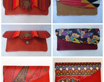 African Tote Clutch Bags
