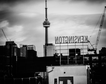 Black and white Cntower - Black and White Photography - Architecture - Travel -City Landscape