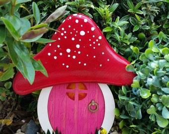 Outside garden Fairy Door Elf Door   Beautiful Handmade