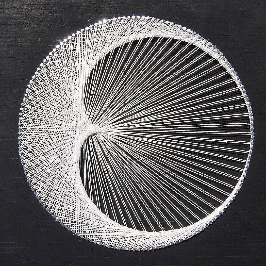 String Art: Crescent Moon/Cardioid String Art