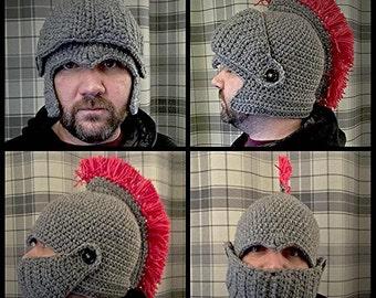 Crochet Roman soldier hat
