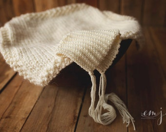 Knit Pixie Hat Newborn Photo Prop