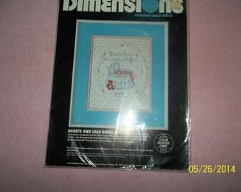 cross stitch -birth record kit
