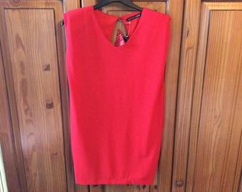 Red vintage look short dress UK 10.