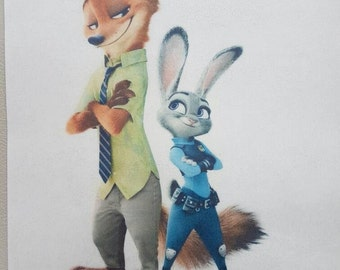 Zootopia edible cake topper. Printed on wafer paper