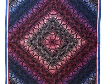 Silk Pocket Square - Murray (Black)