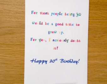 What To Write In A 30th Birthday Card For Boyfriend