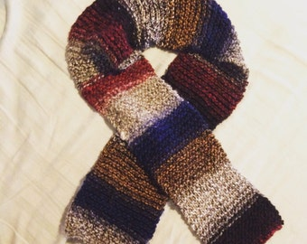 Multicolored striped scarf