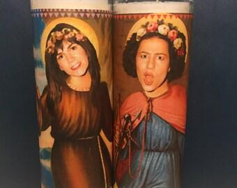 Abbi & Ilana Broad City Saint Candle Set