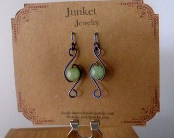 Titanium and Aventurine Earrings