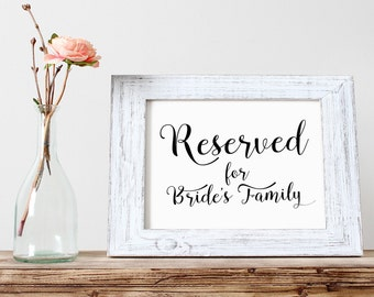 Wedding Signs | Wedding Signs Reserved | Wedding sign printable | download | Wedding Signage | Reserved Seat Sign | Reserved Sign