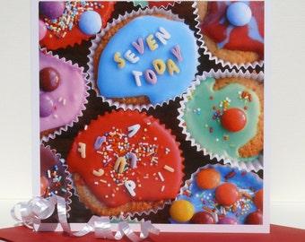 7th Birthday card.