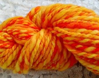 Mango Mama 100% merino wool 2 ply hand spun hand dyed heavy worsted yarn