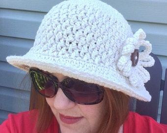 Women sun hat, women large hat, women XL hat, crochet cotton sunhat, women white fedora, women sun hat, women beach hat, wide brim hat