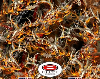 "Obliteration Blaze Buck 52""x6ft Wrap Vinyl Truck Camo Car SUV Tree Real Camouflage Sticker Decal"