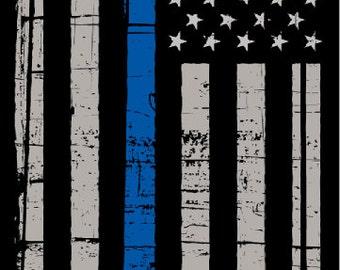 Police Thin Blue Line Flag LAMINATED Cornhole Wrap Bag Toss Decal Baggo Skin Sticker Wraps