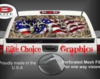American Buck Deer Tallgrass Duck Rear Window Graphic Tint Decal Sticker Truck SUV Van Car