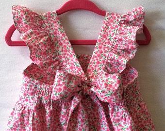 Flower Girl Dress, Little Girl Dress, Baby Girl Dress, Roses Baby Dress, Toddler Dress, Flutter Sleeve Dress, Childs Dress, Kids Clothes