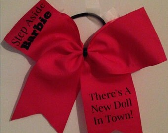 Bright Pink Barbie Cheer Bow