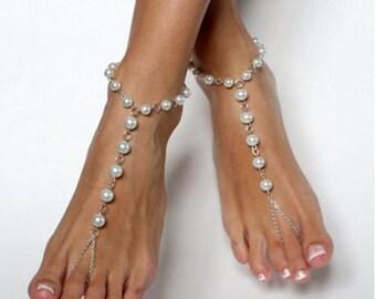 Pearl Beaded Barefoot Sandal