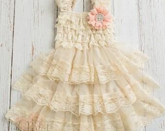 Rustic flower girl dress | Etsy