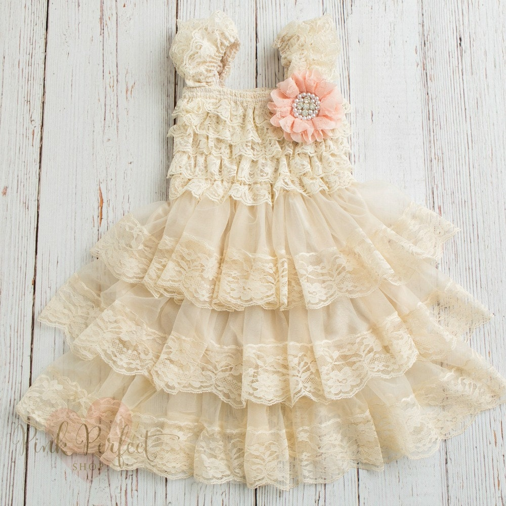 Flower Girl Dress Rustic Flower Girl Dresscountry Flower