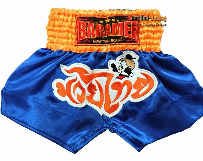 Kids Muay Thai Boxing Shorts Martial Arts - Blue