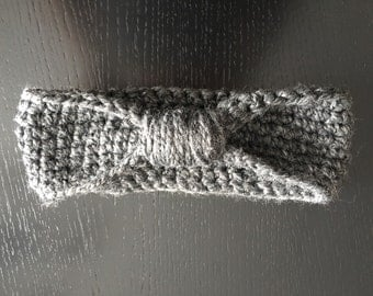Items similar to Bicycle Helmet Ear Warmers Gray Wool Hand Knit on Etsy
