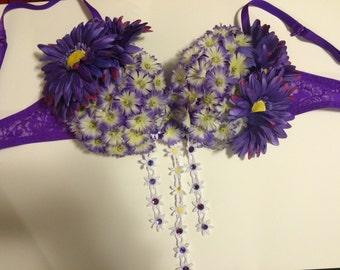 Purple Daisy Bra-top
