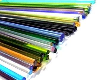 2.2 lib Transparent Morreti Glass Rods Lampwork coe 104 - Mix colors