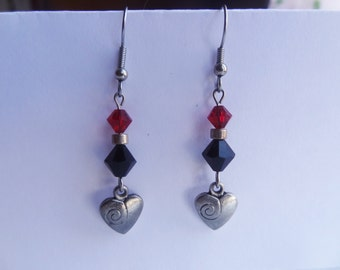 Swarovski Valentine's Heart Charm Earrings