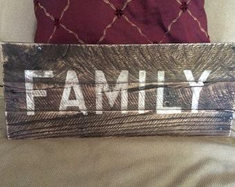 Wood pallet art handpainted