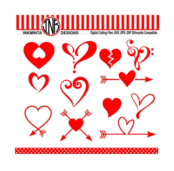 Download Heart svg love svg files arrow heart dxf instant download