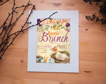 Easter Brunch Spring Party Invitation Digital Download Customized for you